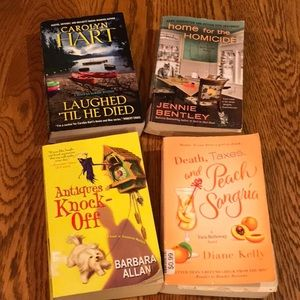Four paperback mysteries